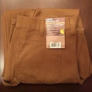 NWT CARHARTT Brown Men's Washed Duck Work Pants